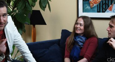 Butterfly Interview Pic of Chris Olsen, Kirsty MacKellar, Christopher Prentice