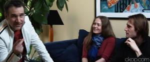 Butterfly Interview Pic of Chris Olsen, Kirsty MacKellar, Christopher Prentice